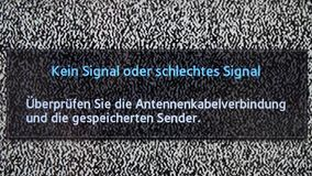 Καμία άσπρη κινηματογράφηση σε πρώτο πλάνο σημάτων θορύβου καναλιών απόθεμα βίντεο