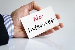 Καμία έννοια κειμένων Διαδικτύου Στοκ Φωτογραφία