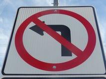 Καμία αριστερή στροφή - πηγαίνετε προς τα εμπρός Στοκ φωτογραφία με δικαίωμα ελεύθερης χρήσης