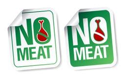 Καμία αυτοκόλλητη ετικέττα κρέατος. Στοκ φωτογραφία με δικαίωμα ελεύθερης χρήσης
