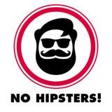 Καμία αυτοκόλλητη ετικέττα hipsters Στοκ φωτογραφία με δικαίωμα ελεύθερης χρήσης