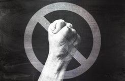 Καμία βία στάση φοβέρας Στοκ φωτογραφία με δικαίωμα ελεύθερης χρήσης
