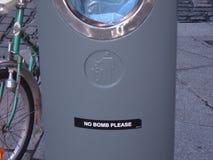 Καμία βόμβα παρακαλώ Στοκ Φωτογραφίες