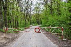 Καμία είσοδος στη δασική πορεία Στοκ Εικόνες