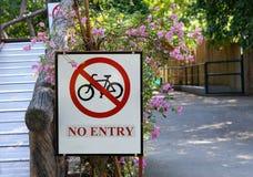 Καμία είσοδος - κανένα ποδήλατο Στοκ Φωτογραφία