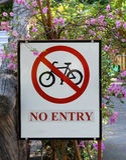 Καμία είσοδος - κανένα ποδήλατο Στοκ φωτογραφία με δικαίωμα ελεύθερης χρήσης