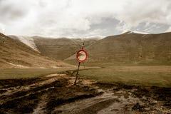 Καμία είσοδος στα βουνά Στοκ φωτογραφίες με δικαίωμα ελεύθερης χρήσης