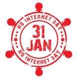 Καμία ημέρα Διαδικτύου Στοκ φωτογραφία με δικαίωμα ελεύθερης χρήσης