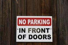 Καμία θέση σημαδιών χώρων στάθμευσης Στοκ Φωτογραφία