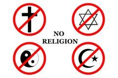 Καμία θρησκεία, επιστολές Στοκ φωτογραφία με δικαίωμα ελεύθερης χρήσης