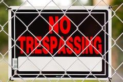 καμία καταπάτηση σημαδιών Στοκ φωτογραφία με δικαίωμα ελεύθερης χρήσης