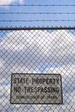 καμία καταπάτηση σημαδιών Στοκ εικόνα με δικαίωμα ελεύθερης χρήσης