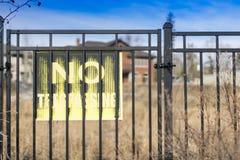 καμία καταπάτηση σημαδιών Στοκ εικόνες με δικαίωμα ελεύθερης χρήσης