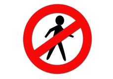 καμία καταπάτηση Στοκ εικόνα με δικαίωμα ελεύθερης χρήσης