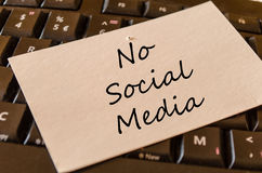 Καμία κοινωνική έννοια κειμένων μέσων Στοκ Φωτογραφίες
