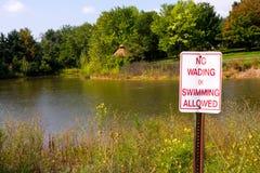Καμία κολύμβηση που επιτρέπεται Στοκ Εικόνα