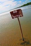 καμία κολύμβηση σημαδιών Στοκ Εικόνες