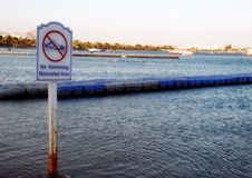 καμία κολύμβηση σημαδιών Στοκ Εικόνα