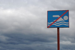 καμία κολύμβηση σημαδιών Στοκ φωτογραφίες με δικαίωμα ελεύθερης χρήσης