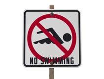 καμία κολύμβηση σημαδιών Στοκ Φωτογραφίες