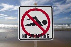 καμία κολύμβηση σημαδιών Στοκ Φωτογραφία