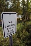 καμία κολύμβηση Στοκ φωτογραφία με δικαίωμα ελεύθερης χρήσης