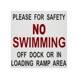 Καμία κολυμπώντας σήμανση ασφάλειας Στοκ Εικόνες