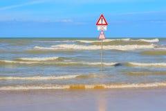 Καμία κολύμβηση Στοκ Εικόνα