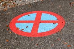 καμία κυκλοφορία σημαδ&iota Στοκ Εικόνες
