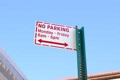 καμία οδός σημαδιών χώρων στάθμευσης Στοκ φωτογραφία με δικαίωμα ελεύθερης χρήσης