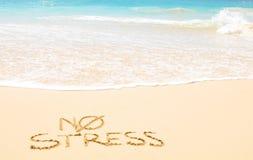Καμία πίεση στην παραλία Στοκ Εικόνα
