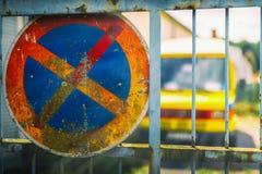 καμία παύση σημαδιών Στοκ Φωτογραφίες
