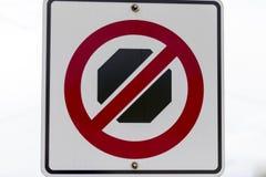 καμία παύση σημαδιών Στοκ φωτογραφία με δικαίωμα ελεύθερης χρήσης