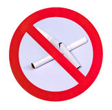 καμία προειδοποίηση καπν Στοκ Φωτογραφία