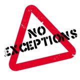 Καμία σφραγίδα εξαιρέσεων στοκ εικόνες με δικαίωμα ελεύθερης χρήσης