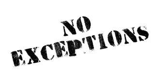 Καμία σφραγίδα εξαιρέσεων στοκ φωτογραφίες με δικαίωμα ελεύθερης χρήσης