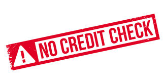 Καμία σφραγίδα πιστωτικού ελέγχου Στοκ εικόνες με δικαίωμα ελεύθερης χρήσης