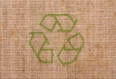 καμβάς ανακύκλωσης Στοκ Εικόνες