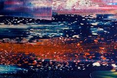 καμβάς που χρωματίζεται αφηρημένος Ελαιοχρώματα σε μια παλέτα Στοκ φωτογραφίες με δικαίωμα ελεύθερης χρήσης