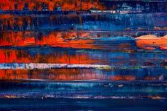 καμβάς που χρωματίζεται αφηρημένος Ελαιοχρώματα σε μια παλέτα Στοκ φωτογραφία με δικαίωμα ελεύθερης χρήσης