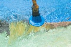 καμβάς που χρωματίζεται Στοκ φωτογραφία με δικαίωμα ελεύθερης χρήσης
