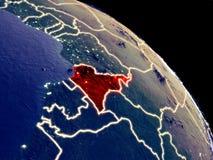 Καμερούν από το διάστημα διανυσματική απεικόνιση