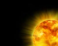 καμμένος ήλιος Στοκ Φωτογραφίες
