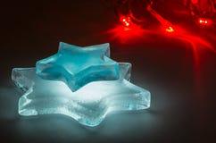 Καμμένος αστέρια πάγου Στοκ φωτογραφίες με δικαίωμα ελεύθερης χρήσης