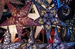 Καμμένος αστέρια Χριστουγέννων Στοκ εικόνα με δικαίωμα ελεύθερης χρήσης