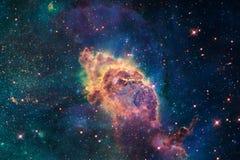 Καμμένος γαλαξίας, τρομερή ταπετσαρία επιστημονικής φαντασίας στοκ φωτογραφίες