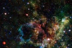 Καμμένος γαλαξίας, τρομερή ταπετσαρία επιστημονικής φαντασίας στοκ εικόνα με δικαίωμα ελεύθερης χρήσης