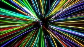 Καμμένος γραμμές φω'των νέου κινήσεων ζουμ διανυσματική απεικόνιση