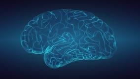 Καμμένος εγκέφαλος πέρα από το κλιμακωτό σκοτεινό υπόβαθρο απεικόνιση αποθεμάτων