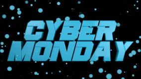 Καμμένος κείμενο Δευτέρας Cyber στο μαύρο backgound, Στοκ φωτογραφία με δικαίωμα ελεύθερης χρήσης